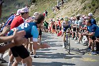 Guillaume Martin (FRA/Wanty-Gobert) up the Tourmalet (HC/2115m/19km @7.4%)<br /> <br /> Stage 14: Tarbes to Tourmalet(117km)<br /> 106th Tour de France 2019 (2.UWT)<br /> <br /> ©kramon