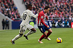 Atletico de Madrid's Santiago Arias and Real Madrid's Vinicius Jr. during La Liga match between Atletico de Madrid and Real Madrid at Wanda Metropolitano Stadium in Madrid, Spain. February 09, 2019. (ALTERPHOTOS/A. Perez Meca)