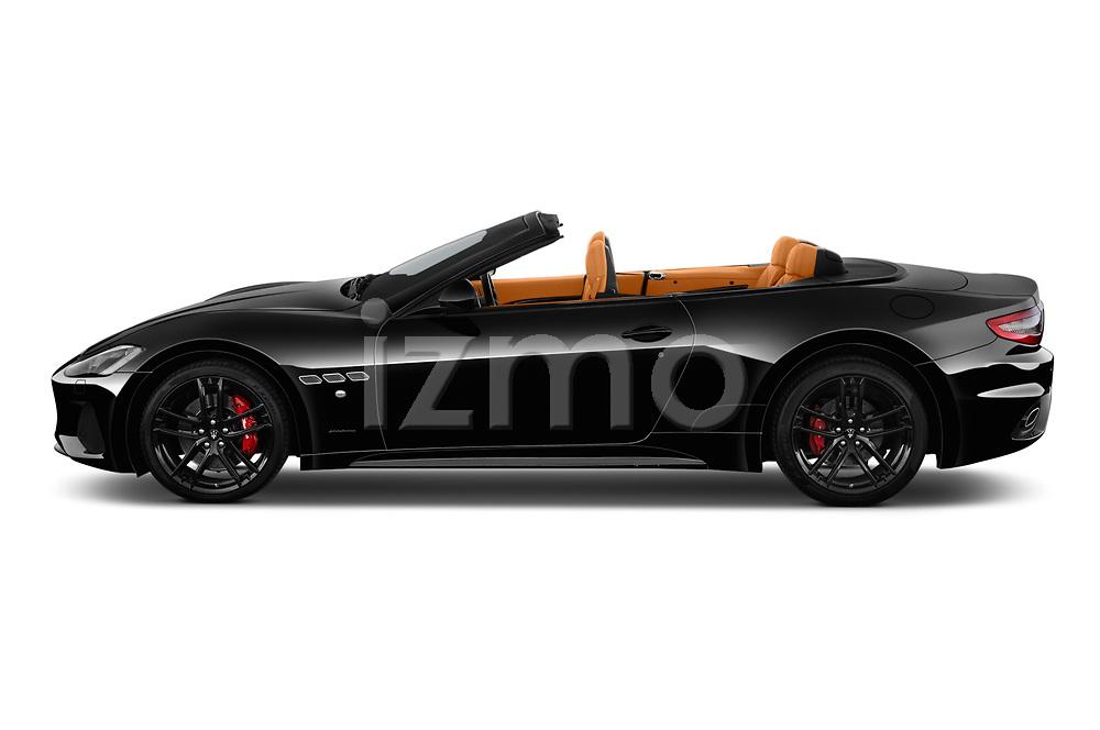 Car Driver side profile view of a 2019 Maserati Gran-Cabrio Sport 2 Door Convertible Side View