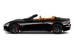 Car Driver side profile view of a 2019 Maserati Gran-Cabrio Sport 2 Door Convertible Side View