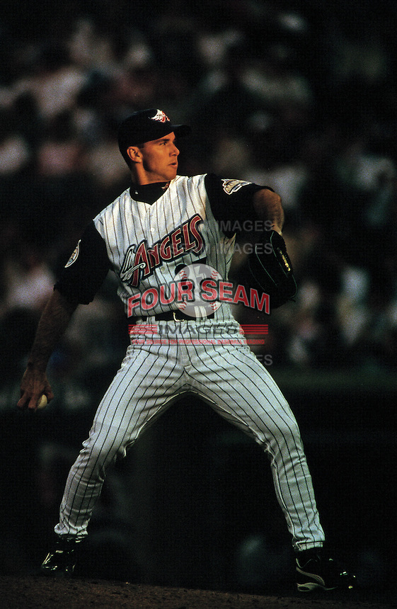 Steve Sparks of the Anaheim Angels during a game circa 1999 at Angel Stadium in Anaheim, California. (Larry Goren/Four Seam Images)