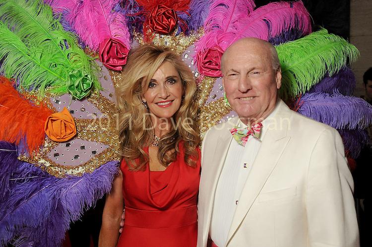 "Chairs Jana and Scott Arnoldy at the 2016 Houston Symphony Gala ""Carnaval"" at Jones Hall Saturday May 14,2016(Dave Rossman Photo)"
