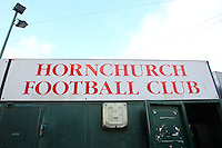 Signage on the turnstiles at the Hornchurch Stadium - AFC Hornchurch vs Wingate & Finchley - Ryman League Premier Division Football at Hornchurch Stadium, Bridge Avenue, Upminster, Essex - 30/11/13 - MANDATORY CREDIT: Gavin Ellis/TGSPHOTO - Self billing applies where appropriate - 0845 094 6026 - contact@tgsphoto.co.uk - NO UNPAID USE