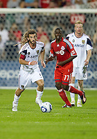 28 August 2010: Real Salt Lake midfielder Kyle Beckerman #5 in action during a game between Real Salt Lake and Toronto FC at BMO Field in Toronto..The game ended in a 0-0 draw..
