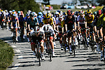 The peloton in action during Stage 8 of Tour de France 2020, running 141km from Cazeres-sur-Garonne to Loudenvielle, France. 5th September 2020. <br /> Picture: ASO/Pauline Ballet | Cyclefile<br /> All photos usage must carry mandatory copyright credit (© Cyclefile | ASO/Pauline Ballet)