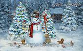 Liz,CHRISTMAS SANTA, SNOWMAN, WEIHNACHTSMÄNNER, SCHNEEMÄNNER, PAPÁ NOEL, MUÑECOS DE NIEVE, paintings+++++,USHCLD0208A,#x#
