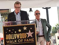 Michael Keaton + John Lee Hancock @ this Walk of Fame ceremony held @ 6931 Hollywood blvd. July 28, 2016