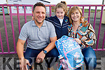 Isabella Casagranda on her first day in Glenderry NS on Tuesday with her parents Laurentiu and Thelma Casagranda.