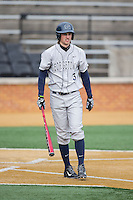 Joseph Bialkowski (3) of the Georgetown Hoyas during the game against the Bucknell Bison at Wake Forest Baseball Park on February 14, 2015 in Winston-Salem, North Carolina.  The Hoyas defeated the Bison 8-5.  (Brian Westerholt/Four Seam Images)