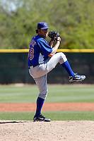 Dustin Sasser - Chicago Cubs - 2009 spring training.Photo by:  Bill Mitchell/Four Seam Images