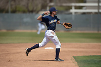 Milwaukee Brewers shortstop Trever Morrison (56) during a Minor League Spring Training game against the Kansas City Royals at Maryvale Baseball Park on March 25, 2018 in Phoenix, Arizona. (Zachary Lucy/Four Seam Images)