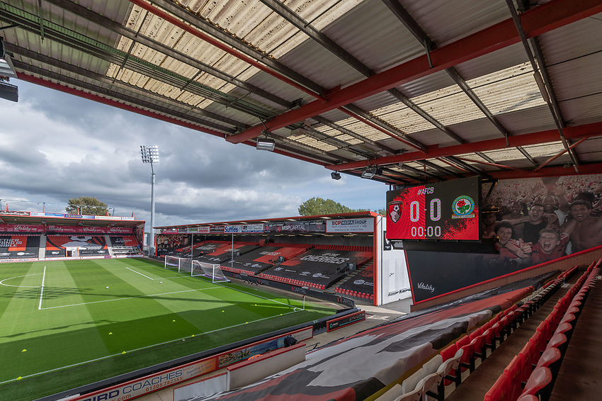 Vitality Stadium - Bournemouth - Ground View<br /> <br /> Photographer David Horton/CameraSport <br /> <br /> The EFL Sky Bet Championship - Bournemouth v Blackburn Rovers - Saturday September 12th 2020 - Vitality Stadium - Bournemouth<br /> <br /> World Copyright © 2020 CameraSport. All rights reserved. 43 Linden Ave. Countesthorpe. Leicester. England. LE8 5PG - Tel: +44 (0) 116 277 4147 - admin@camerasport.com - www.camerasport.com