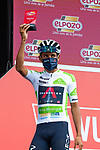 White Jersey Egan Bernal (COL) Ineos Grenadiers most aggressive rider from yesterday's stage at sign on before Stage 18 of La Vuelta d'Espana 2021, running 162.6km from Salas to Alto del Gamoniteiru, Spain. 2nd September 2021.   <br /> Picture: Cxcling   Cyclefile<br /> <br /> All photos usage must carry mandatory copyright credit (© Cyclefile   Cxcling)