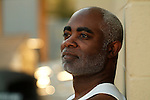 African American man looking thoughtful