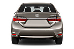 Straight rear view of 2017 Toyota Corolla Lounge 4 Door Sedan Rear View  stock images