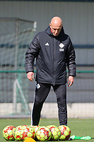 Assistant coach Arno Van Den Abbeel of OHL pictured before a female soccer game between Oud Heverlee Leuven and Club Brugge YLA on the 18 th and last matchday before the play offs of the 2020 - 2021 season of Belgian Womens Super League , saturday 27 th of March 2021  in Heverlee , Belgium . PHOTO SPORTPIX.BE | SPP | SEVIL OKTEM