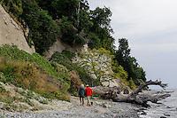 Kreideküste im Nationalpark Jasmund auf der Insel Rügen, Mecklenburg-Vorpommern, Deutschland