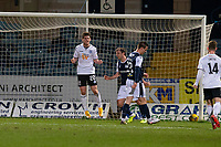 16th March 2021; Dens Park, Dundee, Scotland; Scottish Championship Football, Dundee FC versus Ayr United; Mark McKenzie of Ayr United celebrates after scoring for 1-0 in the 17th minute