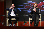 """Yoshiki and  movie director D.J. Caruso attend the press conference for Hollywood movie """"xXx 4"""" in Tokyo, Japan on January 25. Yoshiki has been appointed as the music director for the movie starring Vin Diesel."""