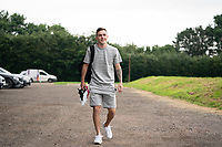 Josh Scowen of Wycombe Wanderers arrives during the return to training for the Wycombe Wanderers squad ahead of the 2021/22 season at Wycombe Training Ground, High Wycombe, England on the 1 July 2021. Photo by Andy Rowland.