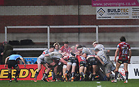 2nd January 2021; Kingsholm Stadium, Gloucester, Gloucestershire, England; English Premiership Rugby, Gloucester versus Sale Sharks; Gloucester maul heads for the try line