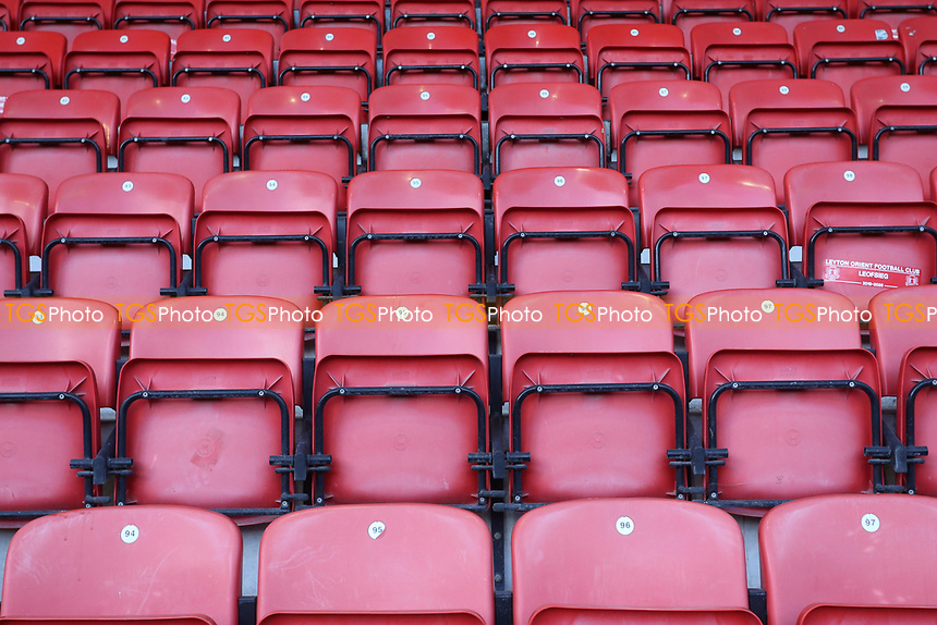 Empty seats in the stand during Leyton Orient vs Salford City, Sky Bet EFL League 2 Football at The Breyer Group Stadium on 2nd January 2021