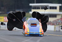 Sep 14, 2019; Mohnton, PA, USA; NHRA top alcohol funny car driver Phil Burkart Jr during qualifying for the Reading Nationals at Maple Grove Raceway. Mandatory Credit: Mark J. Rebilas-USA TODAY Sports