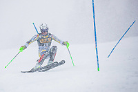14t March 2021; Podkoren, Kranjska Gora, Slovenia; FIS World Cup Skiing, Mens Slalom;  Haugan Timon NOR // in action during his 1st run of mens Slalom of FIS ski alpine world cup at the Podkoren in Kranjska Gora, Slovenia on 2021/03/14. **** ONLY FOR GERFRAITAESPSUISSEGBR **** *****ATTENTION - OUT of SLO, FRA***** Kranjska Gora *** 14 03 2021, Podkoren, Kranjska Gora, SLO, FIS Alpine Ski World Cup, Slalom, Men, 1 run, in picture Haugan Timon NOR in action during his 1st run of men s Slalom of FIS ski alpine world cup at the Podkoren in Kranjska Gora, Slovenia on 2021 03 14 ONLY FOR GER FRA ITA ESP SUISSE GBR ATTENTION OUT of SLO, FRA Kranjska Gora