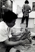 File Photo.<br /> <br /> Henry Napartuk on July 8, 1976, in Montreal, CANADA.<br /> <br /> Henry Napartuk (1932-1985) Lived in Kuujjuaraapik.Napartuk produced several pieces for the Arctic Québec print collection of 1973. <br /> <br /> Photo : Alain Renaud