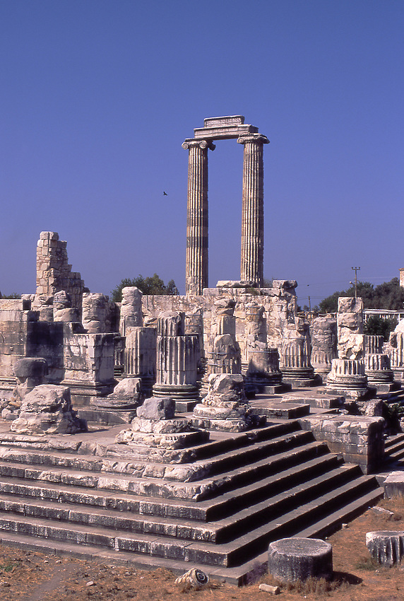 Asia, TUR, Turkey, Aegean Coast, Aegean, Didyma, Temple of Apollo ,Ionic Fluted Columns....[ For each utilisation of my images my General Terms and Conditions are mandatory. Usage only against use message and proof. Download of my General Terms and Conditions under http://www.image-box.com or ask for sending. A clearance before usage is necessary...Material is subject to royalties. Each utilisation of my images is subject to a fee in accordance to the present valid MFM-List...Contact | archive@image-box.com | www.image-box.com ]