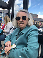 Pictured: Eunice Rees, the wife of victim John Rees.<br /> Re: The trial of Zara Radcliffe, 29, from Porth, charged with stabbing three people at the Co-Op in Tylacelyn Road, Penygraig, near Tonypandy, on 5 May is due to start at Merthyr Tydfil Crown Court, Wales, UK. <br /> Radcliffe stabbed John Rees from nearby Trealaw and is also accused of attempting to murder Lisa Way, 53, Gaynor Saurin, 65, and Andrew Price, 58.