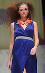 A model walks the runway during the Kate Kills Pretty by Aries Milan show at the second night of Fashion Houston at the Wortham Theater Monday Oct. 10,2011.(Dave Rossman/For the Chronicle)