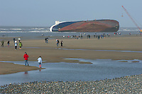 Wreck of the ferry Riverdance, Cleveleys, near Blackpool, Lancashire.