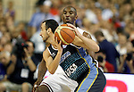 USA's Kobe Bryant (b) and Argentina's Emanuel Ginobili during friendly match.July 22,2012. (ALTERPHOTOS/Acero)
