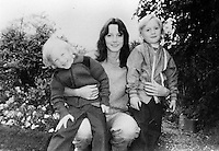 Pix: Copyright Anglia Press Agency/Archived via SWpix.com. The Bamber Killings. August 1985. Murders of Neville and June Bamber, daughter Sheila Caffell and her twin boys. Jeremy Bamber convicted of killings serving life...copyright photograph>>Anglia Press Agency>>07811 267 706>>..Sheila Caffell with her twin boys, Daniel (left) and Nicholas (right). no date..ref 0001 neg 31..