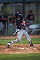 AZL Indians Blue Michael Amditis (8) at bat during an Arizona League game against the AZL White Sox on July 2, 2019 at Camelback Ranch in Glendale, Arizona. The AZL Indians Blue defeated the AZL White Sox 10-8. (Zachary Lucy/Four Seam Images)