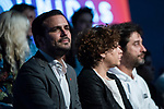 "Alberto Garzon in the act of beginning of the campaign ""Unidas Podemos"" in Madrid. The spokesman of this party in Congress, Irene Montero, and the federal coordinator of IU, Alberto Garzón, intervene in it.<br /> October 31, 2019. <br /> (ALTERPHOTOS/David Jar)"