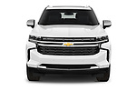 Car photography straight front view of a 2021 Chevrolet Tahoe Premier 5 Door SUV Front View