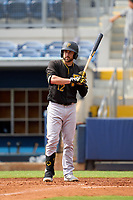FCL Pirates Black Dustin Fowler (12), on rehab assignment, bats during a game against the FCL Rays on August 3, 2021 at Charlotte Sports Park in Port Charlotte, Florida.  (Mike Janes/Four Seam Images)