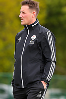 Head coach Jimmy Coenraets of OHL pictured during the warm up before a female soccer game between Oud Heverlee Leuven and Standard femina de liege on the 5 th matchday of play off 1 in the 2020 - 2021 season of Belgian Womens Super League , saturday 8 th of May 2021  in Heverlee , Belgium . PHOTO SPORTPIX.BE | SPP | SEVIL OKTEM