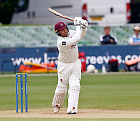 Adam Rossington hits out for Northampton during Kent CCC vs Northamptonshire CCC, LV Insurance County Championship Group 3 Cricket at The Spitfire Ground on 6th June 2021
