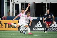 FOXBOROUGH, MA - SEPTEMBER 04: Wojciech Wojcik #9 Forward Madison FC scores the Forward Madison 4th goal of the night during a game between Forward Madison FC and New England Revolution II at Gillette Stadium on September 04, 2020 in Foxborough, Massachusetts.