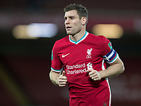 1st October 2020; Anfield, Liverpool, Merseyside, England; English Football League Cup, Carabao Cup, Liverpool versus Arsenal; James Milner of Liverpool