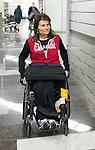 Colette Bourgonje, Sochi 2014.<br /> Team Canada arrives at the airport in Sochi for the Sochi 2014 Paralympic Winter // Équipe Canada arrive à l'aéroport de Sotchi pour Sochi 2014 Jeux paralympiques d'hiver. 04/03/2014.