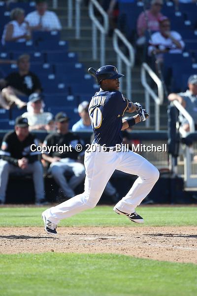 Keon Broxton - Milwaukee Brewers 2016 spring training (Bill Mitchell)