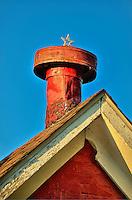 Rustic red chimney.