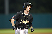 Jon Rosoff (7) of the Army Black Knights rounds the bases after hitting a home run against the Auburn Tigers at Doak Field at Dail Park on June 2, 2018 in Raleigh, North Carolina. The Tigers defeated the Black Knights 12-1. (Brian Westerholt/Four Seam Images)