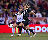 Kristy Yallop, Lauren Holiday. The USWNT tied New Zealand, 1-1, at an international friendly at Crew Stadium in Columbus, OH.