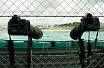 05 Apr 2009, Kuala Lumpur, Malaysia --- Nikon cameras and telephoto lenses ready to work during the 2009 Fia Formula One Malasyan Grand Prix at the Sepang circuit near Kuala Lumpur. Photo by Victor Fraile --- Image by © Victor Fraile / The Power of Sport Images