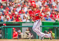 9 June 2013: Washington Nationals shortstop Ian Desmond in action against the Minnesota Twins at Nationals Park in Washington, DC. The Nationals shut out the Twins 7-0 in the first game of their day/night double-header. Mandatory Credit: Ed Wolfstein Photo *** RAW (NEF) Image File Available ***